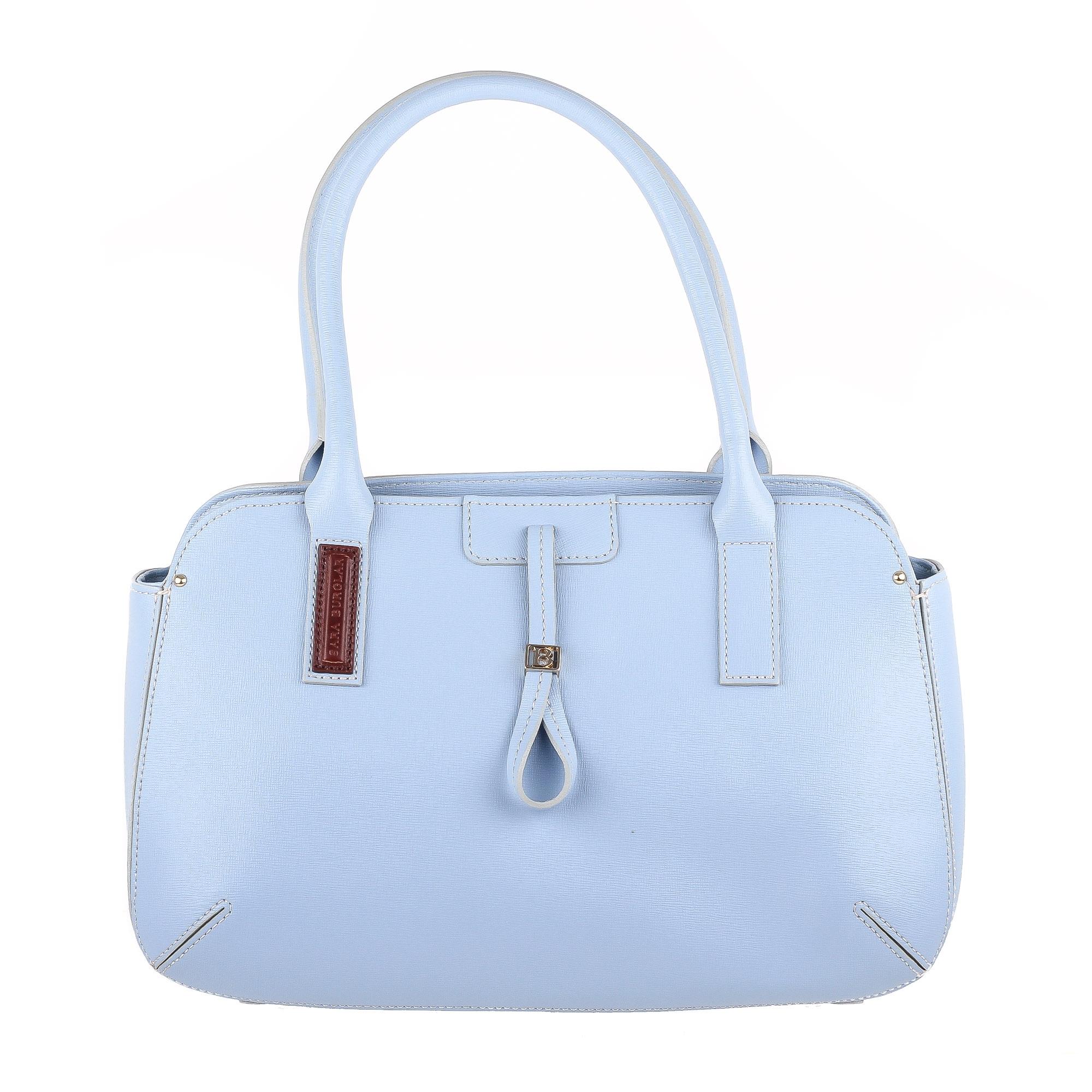 783d26779712 Голубая женская сумка с контрастными внешними швами Burglar L1730 ...