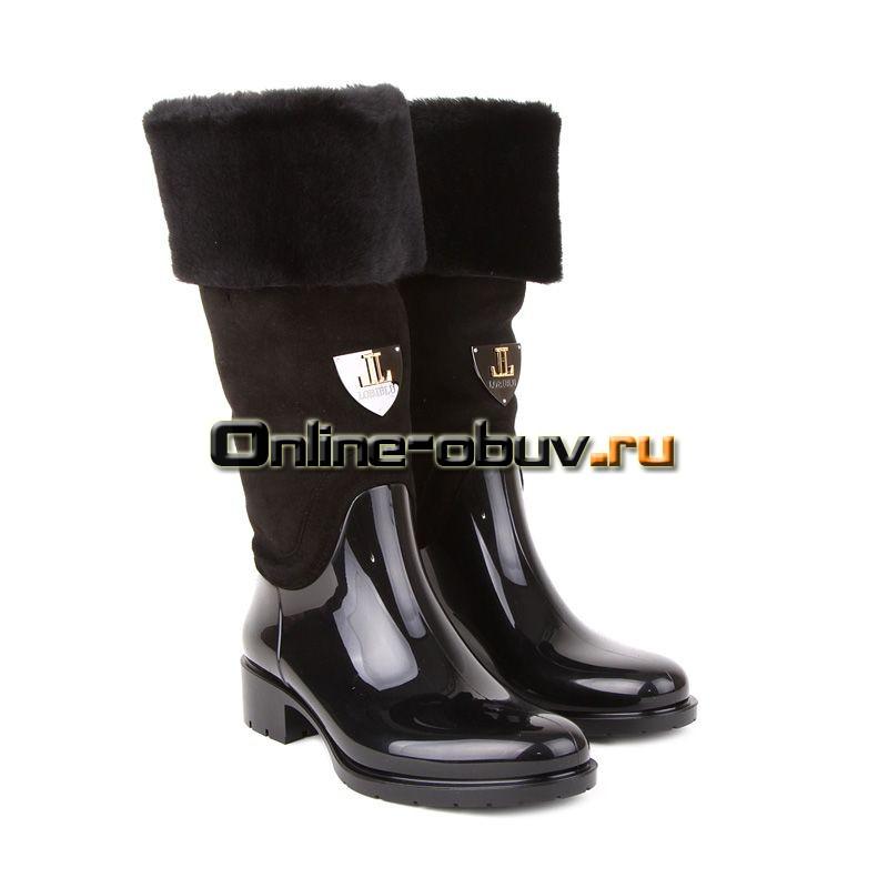 Женские сапоги зима на тонком каблуке